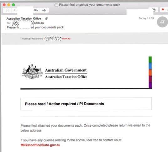 ATO - scam email
