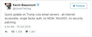Trump email servers
