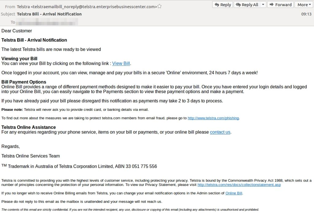 september email scam roundup telstra asic xero more cyber